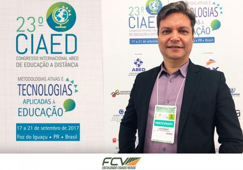 Diretor da FCV participa de congresso sobre EAD