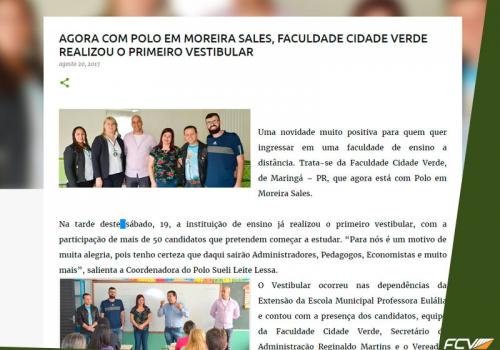 Primeiro vestibular da FCV em Moreira Sales (PR) movimenta a cidade